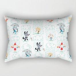 It's Raining - pattern Rectangular Pillow