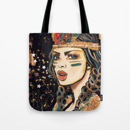 WEA RE ALL MADE OF STARS BOHEMIAN GIRL Tote Bag