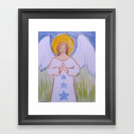 Angel with Stars 2 Framed Art Print