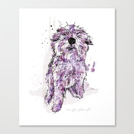 Purple Dog Canvas Print