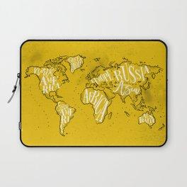 Worldmap vintage yellow Laptop Sleeve