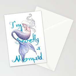 Secretly a Mermaid Stationery Cards