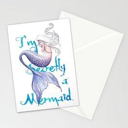 Secretly a Mermaid Stationery Cards