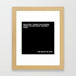 the negative shit Framed Art Print