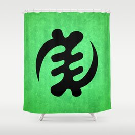 Gye Nyame - Adinkra Art Poster Shower Curtain