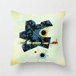 Retro Atomic factory cosmic splender Throw Pillow
