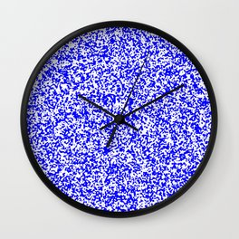 Tiny Spots - White and Blue Wall Clock