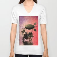 steampunk V-neck T-shirts featuring Steampunk by Shalisa Photography