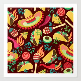 Spicy taco Art Print
