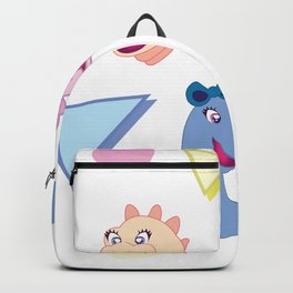 Nineties Dinosaur Jurassic Girlz Pattern Backpack