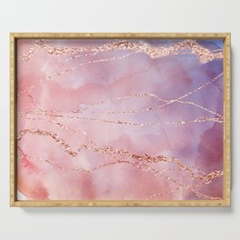 Blush and Purple Sky with Rose gold flashes Serving Tray