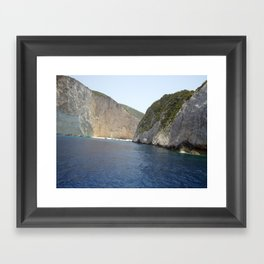 Secret Beach, Zante  Framed Art Print