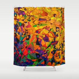 Abstract Golds Shower Curtain