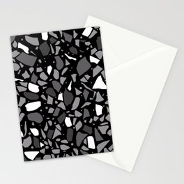Terrazzo Spot Black 2 Stationery Cards