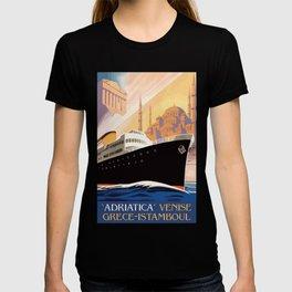 Venice Greece Istanbul shipping line retro vintage ad T-shirt