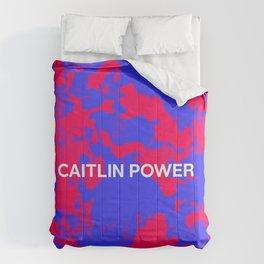 RED BLUE TIE DYE Comforters