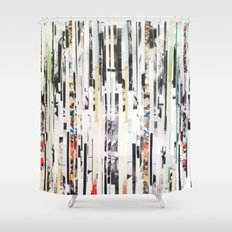 Black and White Stripes Shower Curtain