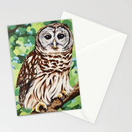 Barred Owl Stationery Cards