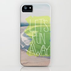 Let's Run Away XII iPhone (5, 5s) Slim Case