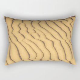 sand ripples Rectangular Pillow