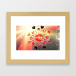 Brighter Blow Eye Framed Art Print