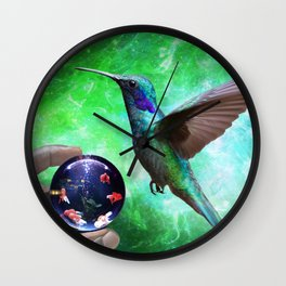 Colibri and the Pisces by GEN Z Wall Clock