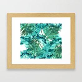 Tropics jungle wall tapestry Framed Art Print