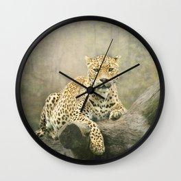 Sri Lankan leopard Wall Clock