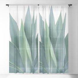 Agave blanco Sheer Curtain