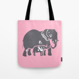 Mom and Baby Elephant Tote Bag
