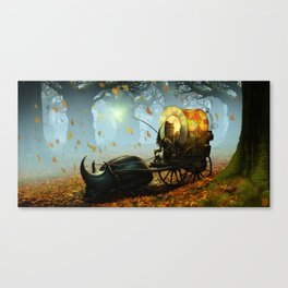 Old man and a beetle Canvas Print