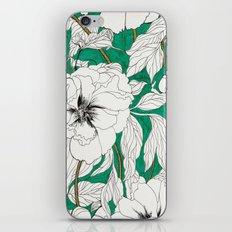 green peonies iPhone & iPod Skin