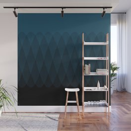Blue to Black Ombre Signal Wall Mural