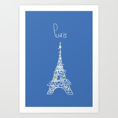 belle à Paris Art Print