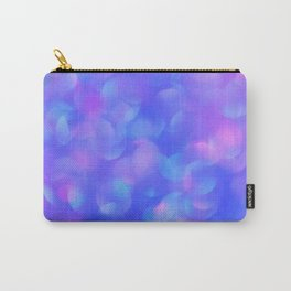 Turquoise Blue Bubbles Carry-All Pouch
