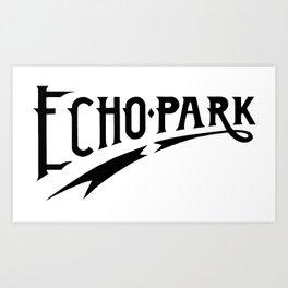 Echo Park Script Art Print
