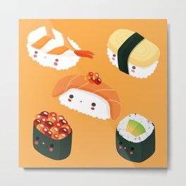 Kiddo Sushi Metal Print