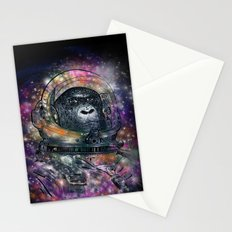 deep space monkey Stationery Cards