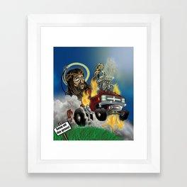 Hot-roddin' Jesus Framed Art Print