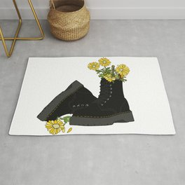 Boots X Daisies  Rug