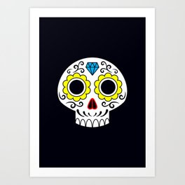 Sugar skull for a cake Art Print