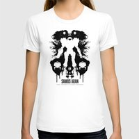 psychology T-shirts featuring Samus Aran Metroid Geek Psychological Diagnosis Ink Blot  by Barrett Biggers