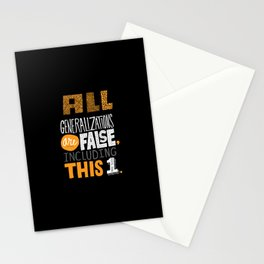 All Generalizations Stationery Cards