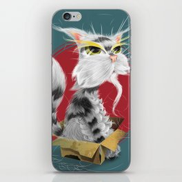 PAW MEI - The Wise Cat iPhone Skin