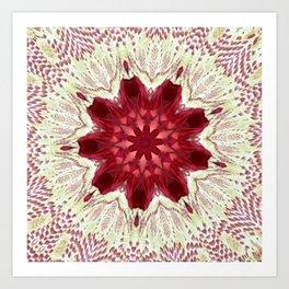 Cayenne Rose Vintage Doily Kaleidoscope Art Print