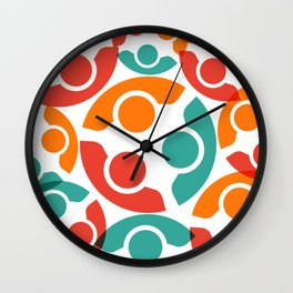People Group Teamwork Wall Clock