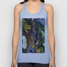 Searching For Gold - Original, abstract, fluid, acrylic painting Unisex Tank Top