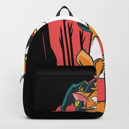 Angry Cat Witch Backpack