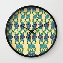 Yellow Succulent Double Link Pattern Wall Clock
