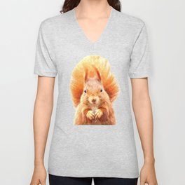 Squirrel Portrait Unisex V-Neck